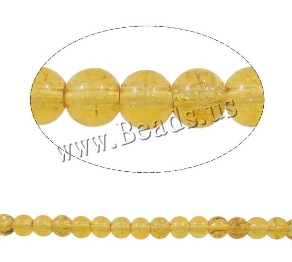 Buy Crackle Glass Beads Round yellow 6mm Hole:Approx 1mm Length:Approx 31 Inch 10Strands/Bag Sold Bag