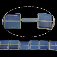 Opal Perle, Quadrat, 20x20x5mm, Bohrung:ca. 2mm, Länge:ca. 15 ZollInch, 10SträngeStrang/Menge, ca. 20PCs/Strang, verkauft von Menge