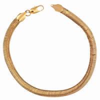 Gets® Schmuck Armband, Messing, 18 K vergoldet, Fischgräten-Kette, frei von Nickel, Blei & Kadmium, 5mm, verkauft per ca. 7.5 ZollInch Strang