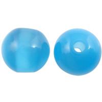 Imitation Cats Eye Resin Perlen, Harz, rund, Imitation Katzen Auge, blau, 12mm, Bohrung:ca. 2mm, 1000PCs/Tasche, verkauft von Tasche