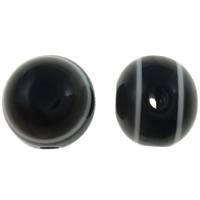 Harz Evil Eye Perlen, rund, Streifen, schwarz, 10mm, Bohrung:ca. 2mm, 1000PCs/Tasche, verkauft von Tasche
