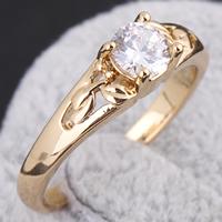 Gets® Finger Ring, Messing, 18 K vergoldet, mit kubischem Zirkonia, frei von Nickel, Blei & Kadmium, 5mm, Größe:9, verkauft von PC