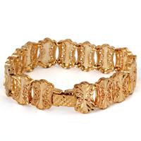 Gets® Schmuck Armband, Messing, 18 K vergoldet, frei von Nickel, Blei & Kadmium, 15mm, verkauft per ca. 7 ZollInch Strang