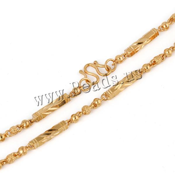 Buy Gets® Jewelry Necklace Brass 18K gold plated bar chain nickel lead & cadmium free 4mm Sold Per Approx 19.5 Inch Strand