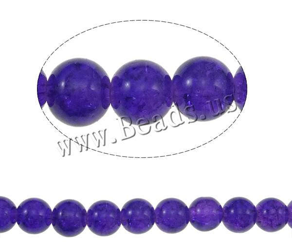 Crackle Glass Beads Round purple 10mm Hole:Approx 1mm Length:Approx 40 Inch 10Strands/Bag Sold Bag