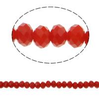 Klasse AA Kristallperlen, Kristall, Rondell, facettierte & AA grade crystal, Hyazinth, 6x4mm, Bohrung:ca. 1mm, Länge:ca. 17 ZollInch, 10SträngeStrang/Tasche, ca. 97PCs/Strang, verkauft von Tasche