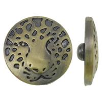 Zinklegierung Verbindungselement Komponente ausrichten, flache Runde, antike Bronzefarbe plattiert, frei von Nickel, Blei & Kadmium, 20x7.5mm, 5PCs/Tasche, verkauft von Tasche
