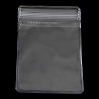 Weich-PVC Druckverschlussbeutel, Rechteck, transparent, weiß, 50x70mm, 10Taschen/Menge, verkauft von Menge