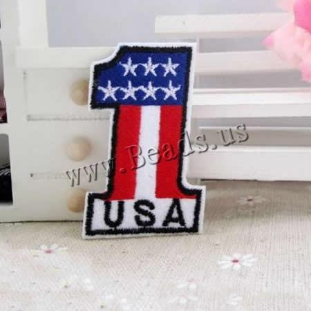 Buy Iron Patches Cloth Number 1 35x56mm 5 Sold Lot