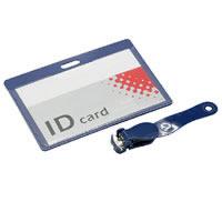Kunststoff Brust Karte, Rechteck, transparent, blau, 100x68x1.05mm, 150PCs/Menge, verkauft von Menge
