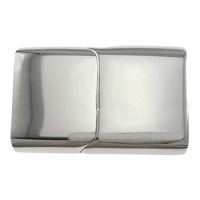 Edelstahl Magnetverschluss, Rechteck, originale Farbe, 28.50x18x7mm, Bohrung:ca. 16.5x5mm, 10PCs/Menge, verkauft von Menge