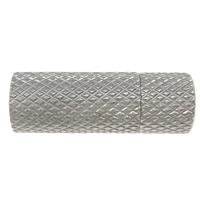 Edelstahl Magnetverschluss, Zylinder, verschiedene Größen vorhanden, originale Farbe, 30PCs/Menge, verkauft von Menge