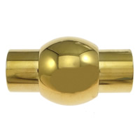 Edelstahl Magnetverschluss, Laterne, goldfarben plattiert, 19x11mm, Bohrung:ca. 6mm, 20PCs/Menge, verkauft von Menge