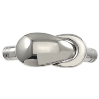 Edelstahl Magnetverschluss, keine, 43x15x8mm, Bohrung:ca. 5mm, 10PCs/Menge, verkauft von Menge