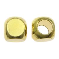 Messing Schmuckperlen, Quadrat, plattiert, verschiedene Größen vorhanden, keine, frei von Nickel, Blei & Kadmium, verkauft von Menge