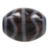 Natürliche Tibetan Achat Dzi Perlen, oval, Wasserwelle & Weitere Größen für Wahl & zweifarbig, Bohrung:ca. 2mm, verkauft von PC
