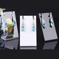 Organisches Glas Ohrringständer, Rechteck, keine, 85x46mm,35x2mm, 25PCs/Menge, verkauft von Menge