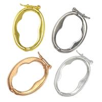 Messing Twister Verschluss, plattiert, keine, frei von Nickel, Blei & Kadmium, 17x25x2mm, 100PCs/Menge, verkauft von Menge