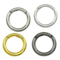 Zinklegierung Schlüssel Verschluss, Kreisring, plattiert, keine, frei von Nickel, Blei & Kadmium, 25x25x4mm, Bohrung:ca. 17mm, 100PCs/Menge, verkauft von Menge