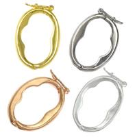 Zinklegierung Twister Verschluss, flachoval, plattiert, keine, frei von Nickel, Blei & Kadmium, 13x17x2mm, 100PCs/Menge, verkauft von Menge