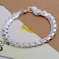 comeon® Schmuck Armband, Messing, versilbert, frei von Nickel, Blei & Kadmium, 8mm, verkauft per ca. 7.8 ZollInch Strang