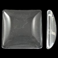 Kristall Eisen auf Nagelkopf, Quadrat, verschiedene Größen vorhanden & flache Rückseite, Kristall, 100PCs/Tasche, verkauft von Tasche