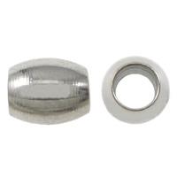 Edelstahl-Beads, Edelstahl, oval, originale Farbe, 5x4mm, Bohrung:ca. 2mm, 1000PCs/Menge, verkauft von Menge