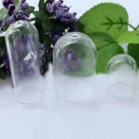 Glaskugel, Glas, Zylinder, Es kann mit DIY Materialien gefüllt werden. & transparent & verschiedene Größen vorhanden, Bohrung:ca. 2-3mm, 50PCs/Menge, verkauft von Menge