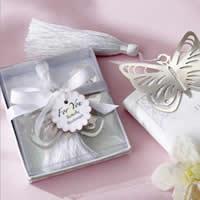 Edelstahl Lesezeichen, mit Nylonschnur, Schmetterling, mit Papier-tag, 57x51mm, 60PCs/Menge, verkauft von Menge