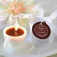 Paraffin Kerzen, mit Baumwolle, Tasse, weiß, 40x50mm, 20PCs/Menge, verkauft von Menge