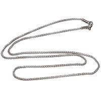Halskette, 316 L Edelstahl, Maschen-Kette, originale Farbe, 2mm, Länge:ca. 19.5 ZollInch, 10SträngeStrang/Menge, verkauft von Menge