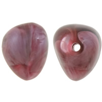 Perlen in Perlen Acrylperlen, Acryl, Klumpen, Rosa, 13x15mm, Bohrung:ca. 2mm, ca. 380PCs/Tasche, verkauft von Tasche