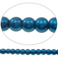 Perlmuttartige Glasperlen, Glas, rund, Nachahmung Perle, keine, 6mm, Bohrung:ca. 1mm, Länge:ca. 39.7 ZollInch, 10SträngeStrang/Tasche, ca. 151/Strang, verkauft von Tasche