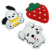 Nähen-auf Patch, Stoff, mit Wolle, gemischt, 85x4-100x4mm, 99PCs/Tasche, verkauft von Tasche