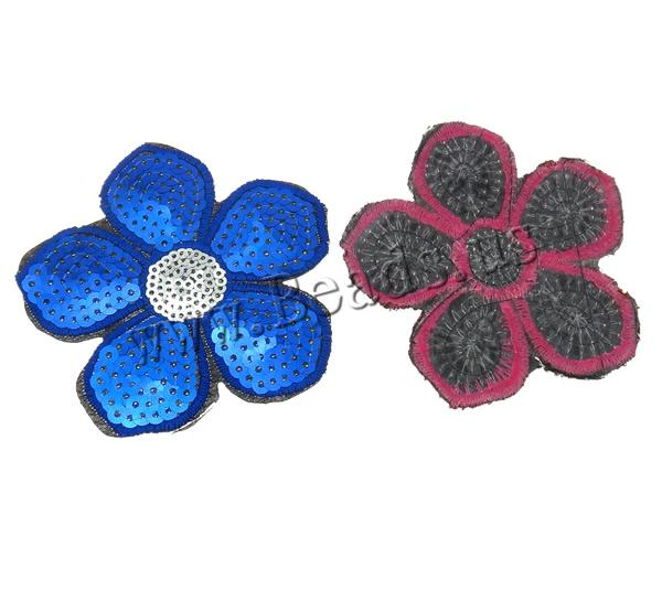 Buy Sewing-on Patch Cloth Plastic Sequin Flower mixed colors 77x1mm 99PCs/Bag Sold Bag