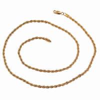 Gets® Schmuck Halskette, Messing, 18 K vergoldet, Seil-Kette, frei von Nickel, Blei & Kadmium, 3mm, verkauft per ca. 23 ZollInch Strang