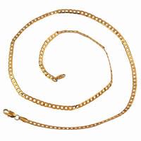 Gets® Schmuck Halskette, Messing, 18 K vergoldet, Kandare Kette, frei von Nickel, Blei & Kadmium, 3mm, verkauft per ca. 23.5 ZollInch Strang