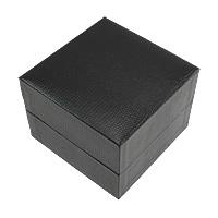Uhr Schmuckkasten, Karton, mit Baumwollsamt, Quadrat, schwarz, 100x100x73mm, 20PCs/Menge, verkauft von Menge