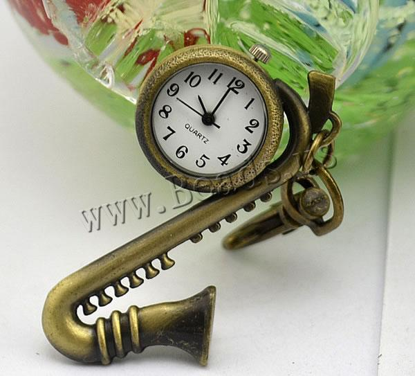 Buy Keychain Watch Zinc Alloy iron chain & Glass Musical Instrument plated nickel lead & cadmium free 16mm Length:Approx 32.1 Inch 2 Sold Lot