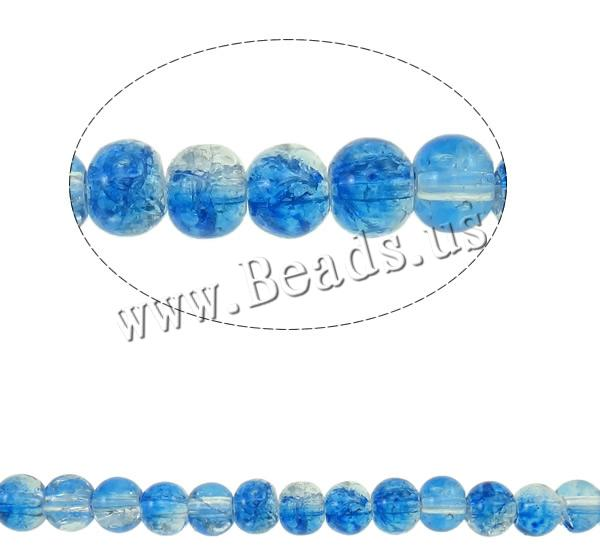 Buy Crackle Glass Beads Round two tone colors choice 4mm Hole:Approx 1mm Length:Approx 29.5 Inch 10Strands/Bag Sold Bag