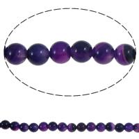 Natürliche violette Achat Perlen, Violetter Achat, rund, 6mm, Bohrung:ca. 1mm, ca. 64PCs/Strang, verkauft per ca. 15.3 ZollInch Strang
