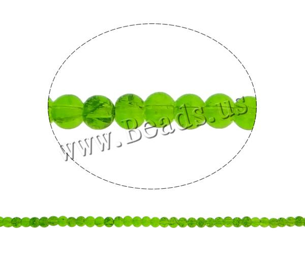 Crackle Glass Beads Round green 4mm Hole:Approx 1mm Length:Approx 30.7 Inch 10Strands/Bag Sold Bag