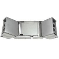 Edelstahl Uhrband Verschluss, Rechteck, originale Farbe, 32.50x11.50x6mm, 50PCs/Tasche, verkauft von Tasche
