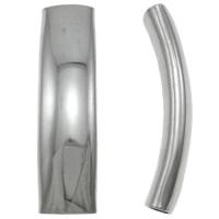 Edelstahlrohr Perlen, Edelstahl, originale Farbe, 36x9.50x8mm, Bohrung:ca. 4x8mm, 50PCs/Tasche, verkauft von Tasche