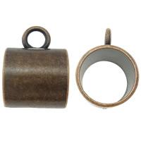 Zink-Legierung Schal Slide Bail, Zinklegierung, Rohr, antike Kupferfarbe plattiert, frei von Blei & Kadmium, 20x28x20mm, Bohrung:ca. 6mm, 10PCs/Tasche, verkauft von Tasche