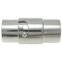 Messing Bajonettverschluss, Zylinder, Platinfarbe platiniert, mit Feder, frei von Nickel, Blei & Kadmium, 17x9x8mm, Bohrung:ca. 6mm, 10PCs/Tasche, verkauft von Tasche