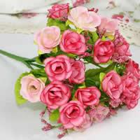 Seidenspinnerei Kunstblume, mit PE Schaumstoff & Kunststoff, Rose, keine, 22cm, 10PCs/Menge, verkauft von Menge