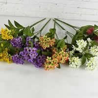 Seidenspinnerei Kunstblume, mit Kunststoff, gemischte Farben, 34cm, 10PCs/Menge, verkauft von Menge