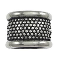 Edelstahl-Perlen mit großem Loch, Edelstahl, Zylinder, Schwärzen, 16.50x12x12mm, Bohrung:ca. 12x8mm, 50PCs/Menge, verkauft von Menge