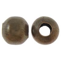 Eisen Schmuckperlen , Trommel, antike Kupferfarbe plattiert, frei von Nickel, Blei & Kadmium, 10mm, Bohrung:ca. 4mm, ca. 300PCs/Tasche, verkauft von Tasche